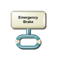 Emergency brake in white and light blue design vector
