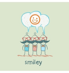 people think about smileys vector image