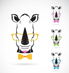 Rhino glasses vector