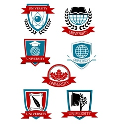 University emblems and symbols vector