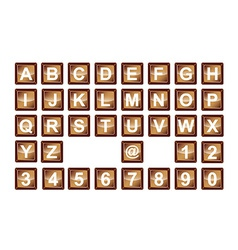 3d numbers and alphabet buttons vector image vector image