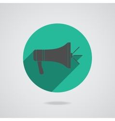 Megaphone icon loudspeaker isolated vector