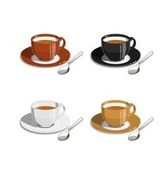 Cup of coffee Set of vector image