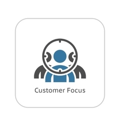 Customer focus icon flat design vector