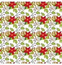 Seamless christmas and new year pattern with cute vector