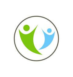 Active people joy together logo vector