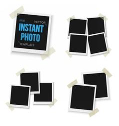 Blank Vintage Photo Frame Mockup Set Isolated vector image