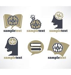 brain symbols vector image