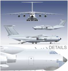 cargo airplane vector image