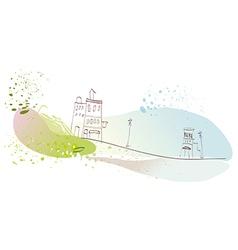 Creative townscape scene vector image vector image