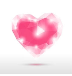 crystal glass heart vector image vector image