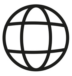 earth line icon vector image