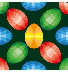 Easter seamless pattern Eggs design vector image vector image