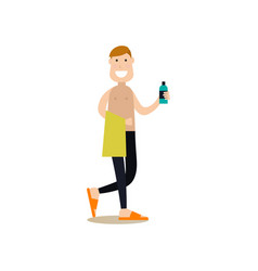gym people concept in flat vector image vector image