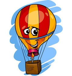 hot air balloon cartoon vector image vector image