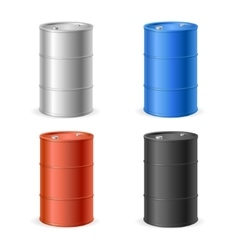 Oil barrel drum collection vector