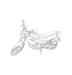 old and red motorbike sketch vector image vector image