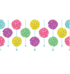 Party set of hanging pastel colorful vector