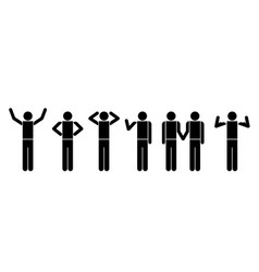 people in actions symbols vector image vector image