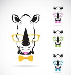 Rhino glasses vector