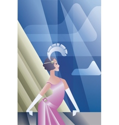 Roaring 20s poster with flappers day sky vector