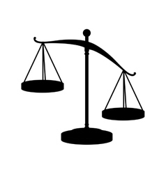 Scale of justice law vector
