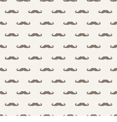 Seamless background pattern with mustache vector image