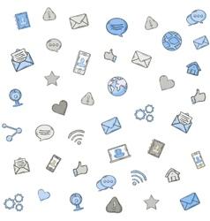Social media pattern vector image vector image
