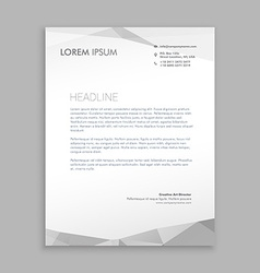 Stylish modern letterhead design vector