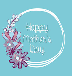 Symbol of mother day with flowers vector