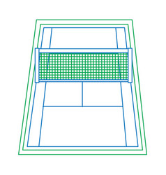 Tennis court icon imag vector