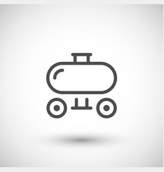 Trailer tank line icon vector