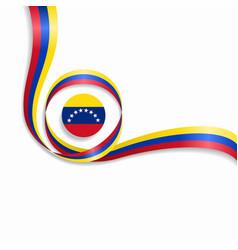 venezuelan wavy flag background vector image