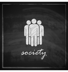 Vintage with society symbol on blackboard vector