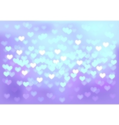 Violet festive lights in heart shape background vector image vector image