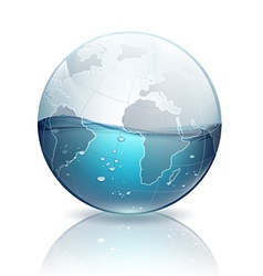 Water inside the planet earth vector