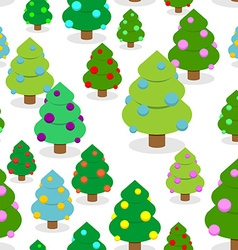 Winter Christmas forest seamless pattern Christmas vector image vector image