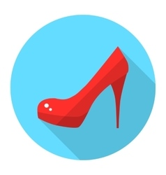 Woman high heel shoes flat icon vector