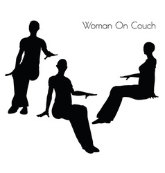 Woman on couch pose vector