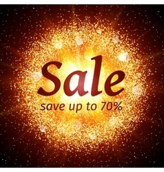 Sale banner on abstract explosion background vector