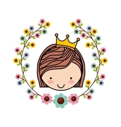 Little beautiful girl isolated vector