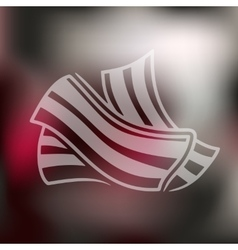Bacon icon on blurred background vector
