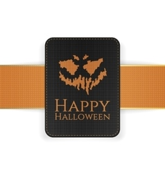 Halloween holiday creepy card template vector