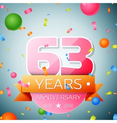 Sixty three years anniversary celebration vector