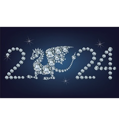 Happy new year 2024 creative greeting card vector