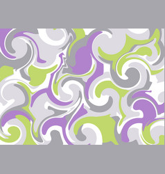 abstract background of curls vector image