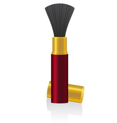 Powder brush 01 vector