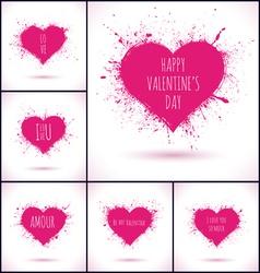 X1 GRUNGE HEARTS vector image