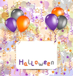 Halloween card with set colorful balloons and vector