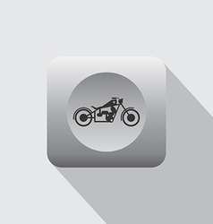Chopper motorcycle icon vector